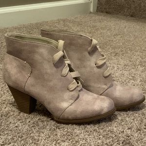 Size 6 Booties! Worn once!